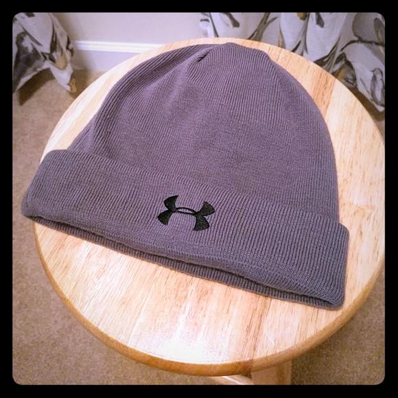 Under Armour grey stocking cap  beanie hat. M 5a73c0dd2ab8c5f5e4cdf482 f302b276bbc